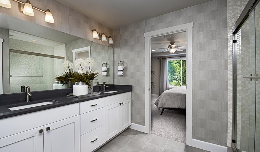 Owner's bathroom of the Lowell plan in Summerwalk in Washington