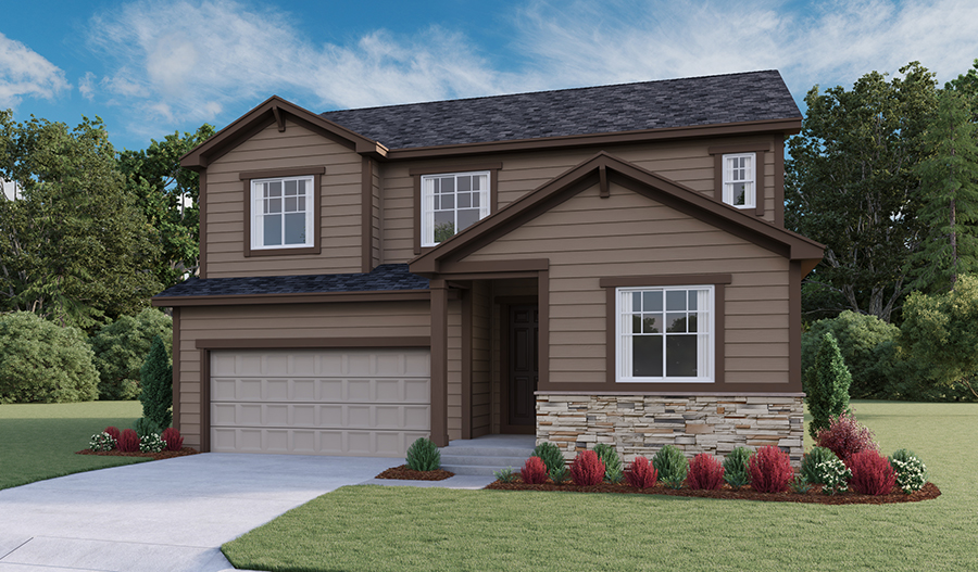 Exterior A of the Hopewell floor plan