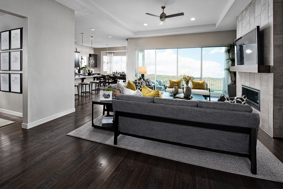 Greatroom of the Delaney floor plan