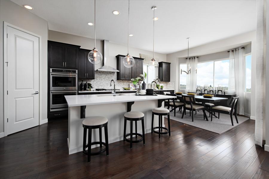 Kitchen of the Delaney floor plan in UT