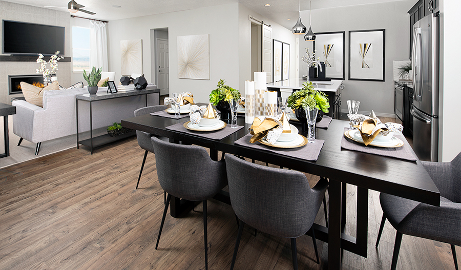 Greatroom of the Moonstone floor plan in Miners Grove