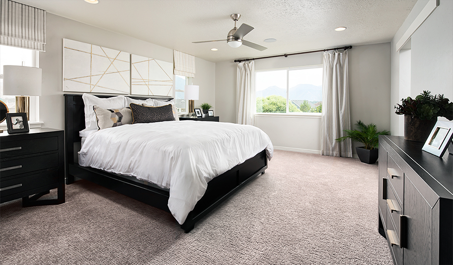 Owner's bedroom of the Moonstone plan in Utah