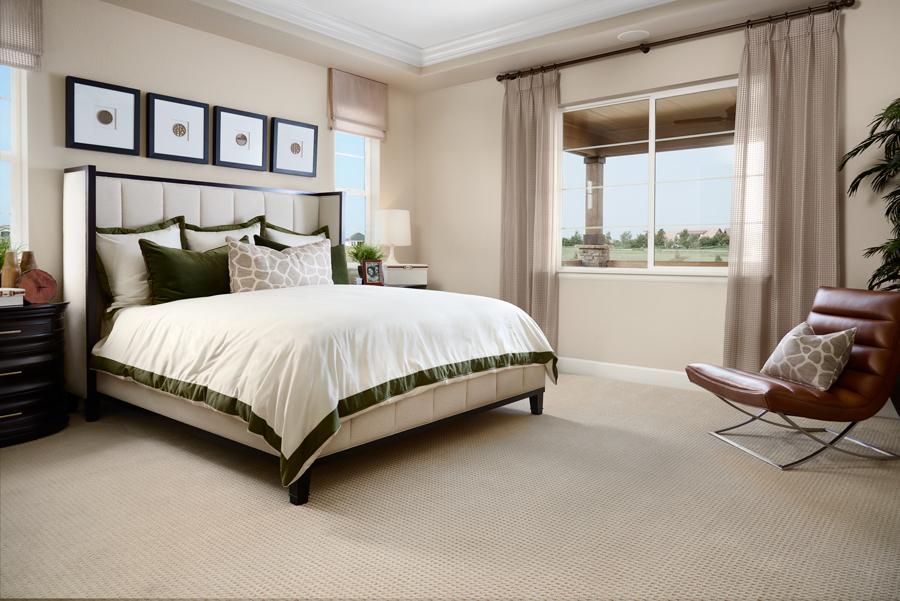 Master bedroom of the Arlington plan in NCO