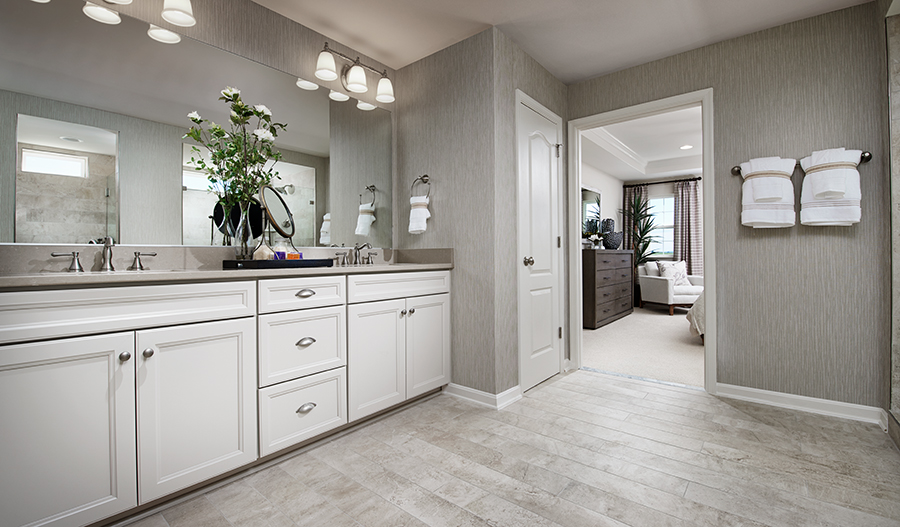 The master bath of the Hopewell