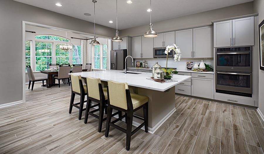 Kitchen of the Decker plan in Twin Lakes
