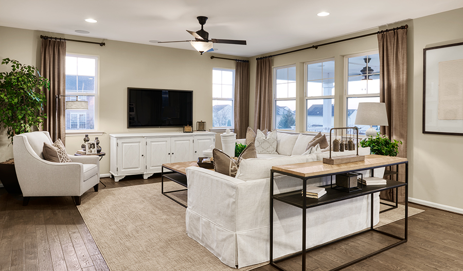 Family room of the Coronado in Brookfield