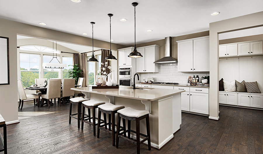 Kitchen nook of the Coronado plan in Brookfield