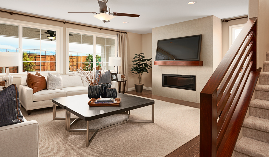 Family Room of the Stafford plan in NCA