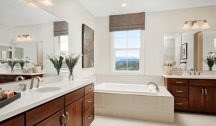 Owner's bath of the Stafford plan in NCA