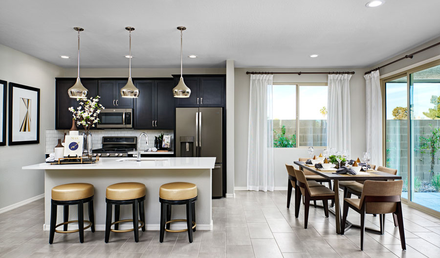 Kitchen and nook of the Moonstone plan in PHX