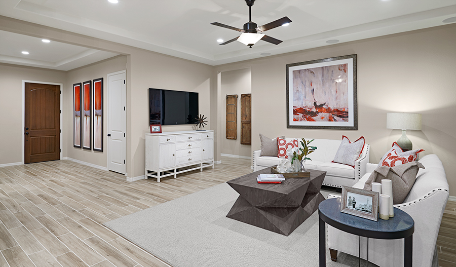 Family room of the Dominic plan in PHX