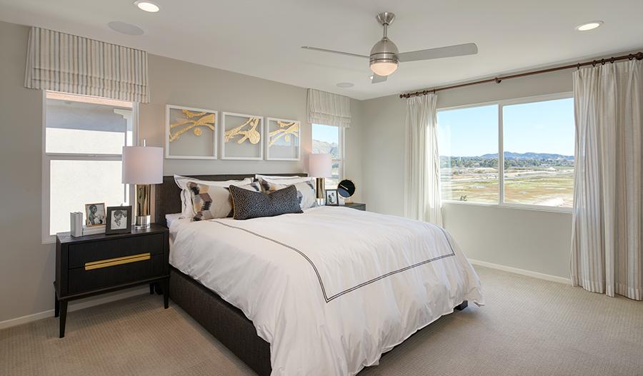 Owner's bedroom of the Moonstone plan in SCA