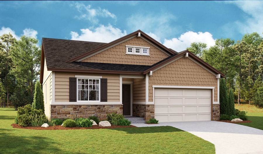 Exterior G of the Ponderosa floor plan