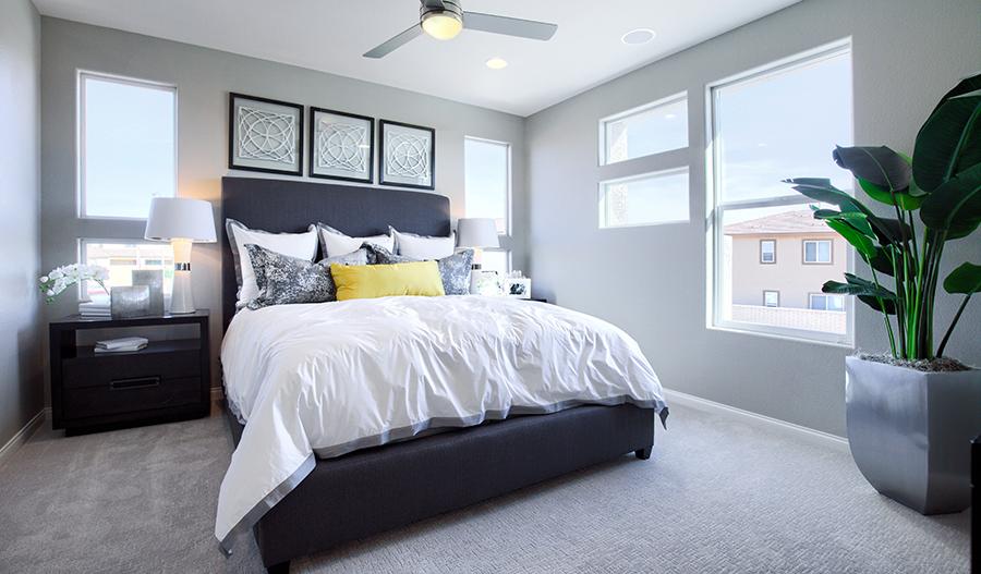 Owner's bedroom of the Chicago plan in Las Vegas