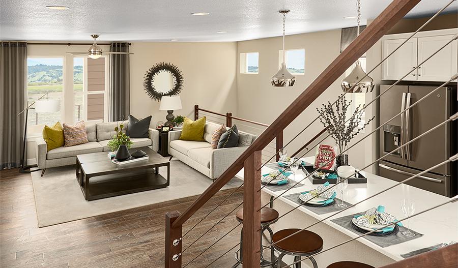 Great room of the Devoe floor plan in Denver