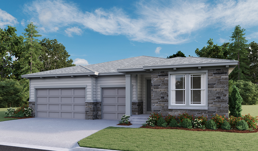 The Patterson - Elevation C - Crystal Valley Masterplan