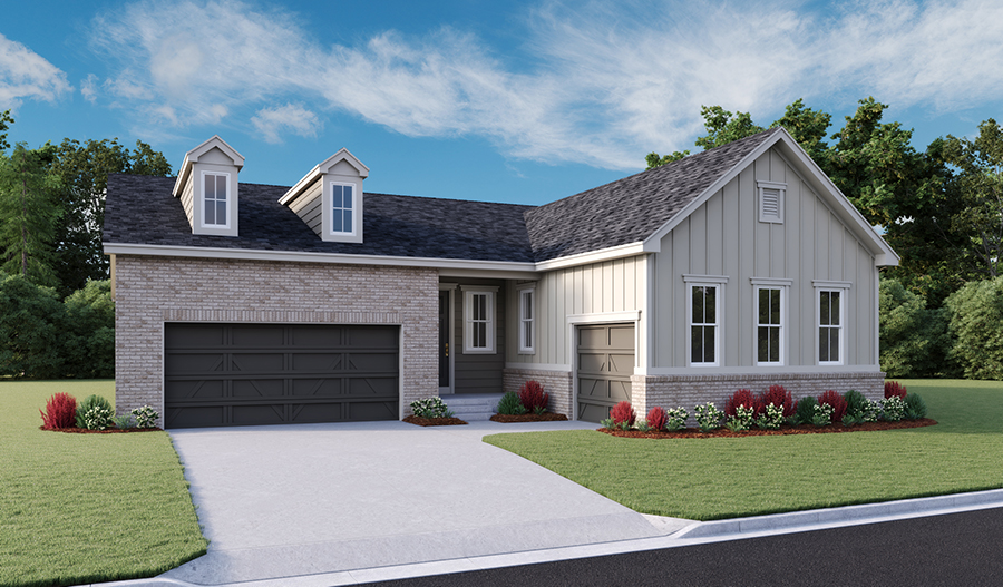 The Pendleton - Elevation B - Crystal Valley Masterplan
