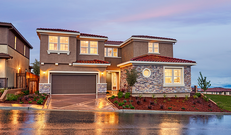 Exterior of the Perry plan in Stonebrae in NCA