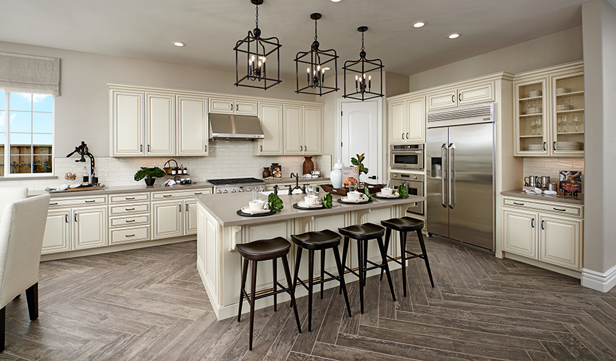Kitchen of the Perry plan in Stonebrae in NCA