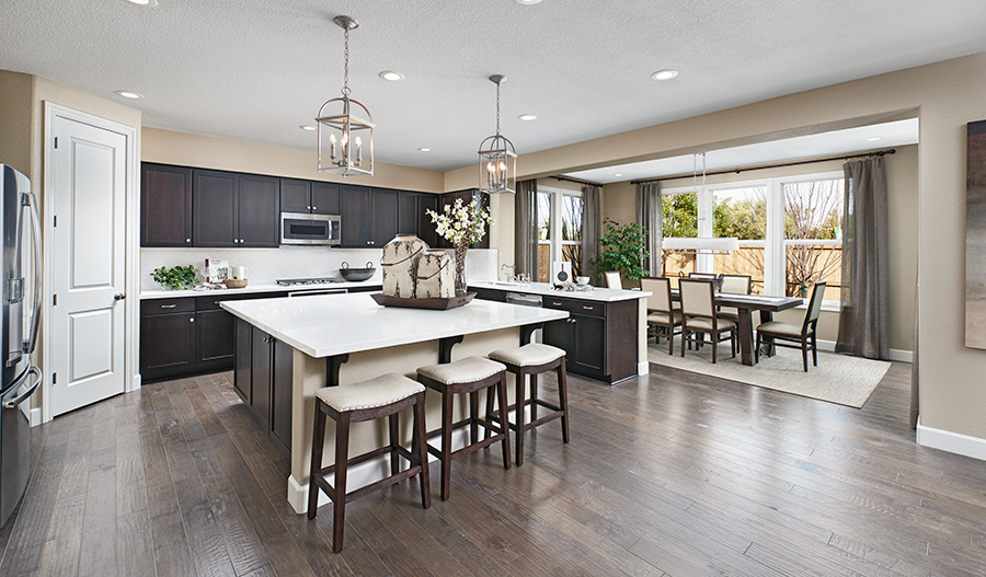 Kitchen and nook of the Seth plan in Fox Chase in NCA