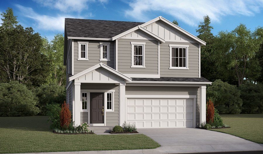 Exterior A of the Lowrey floor plan