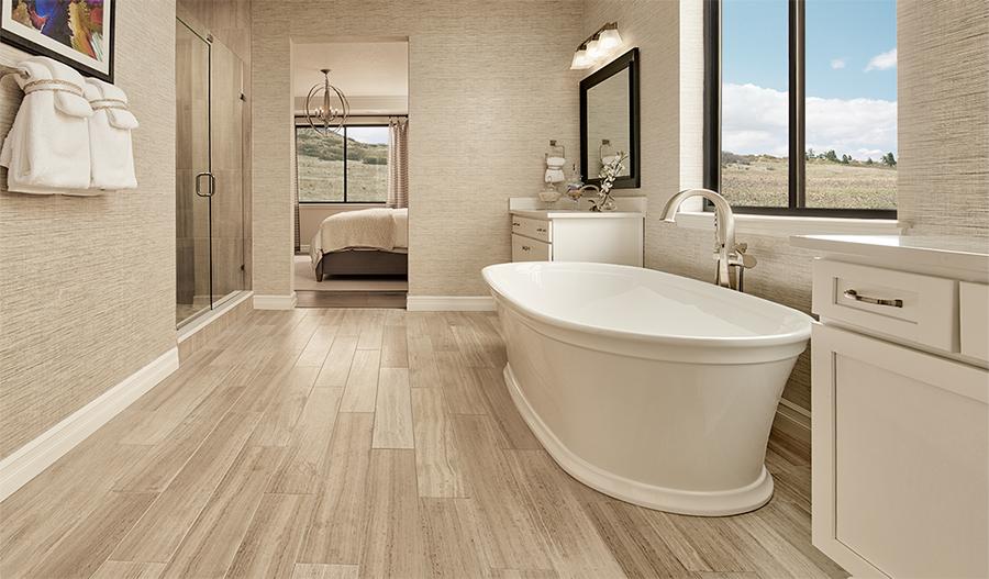 Master bathroom of the Harris plan in Cobblestone