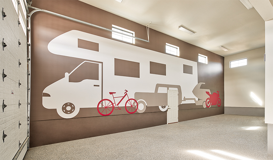RV garage of the Harris plan in Cobblestone