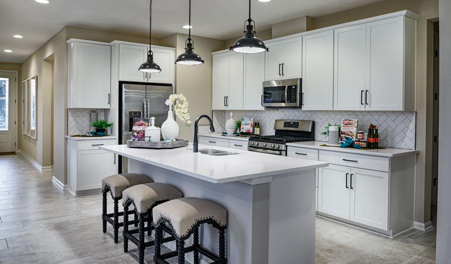 Kitchen of the Jasper plan in GreyHawk in JAX