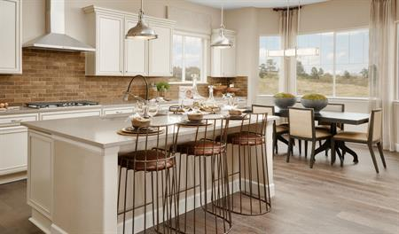 Kitchen of the Delaney plan in Aurora