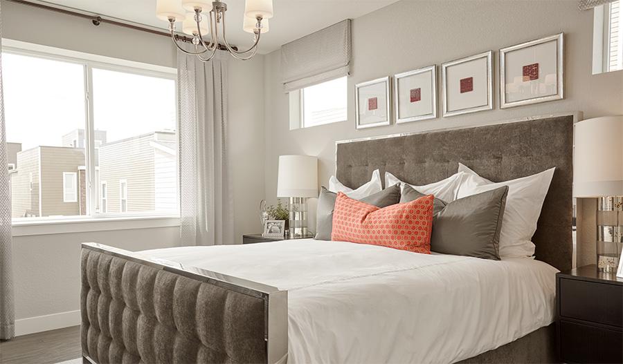 Master bedroom of the Soho plan in Denver