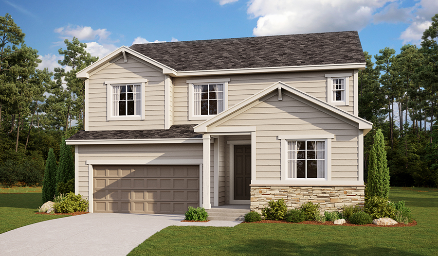 Exterior A of the Hopewell floor plan'