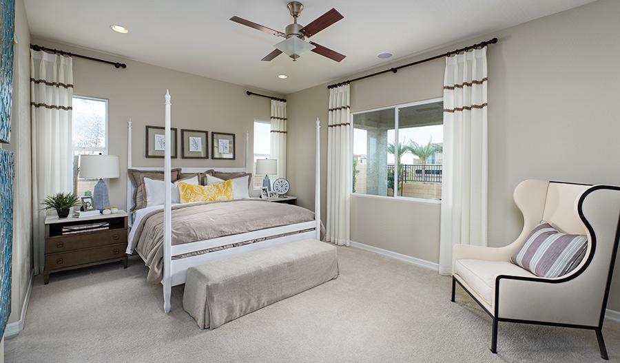 Master bedroom of the Paige plan in Las Vegas