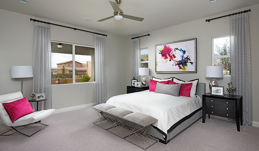 Master bedroom of the Oxford plan in LV