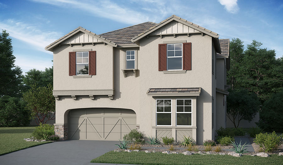 Exterior C of the Fulmer X floor plan