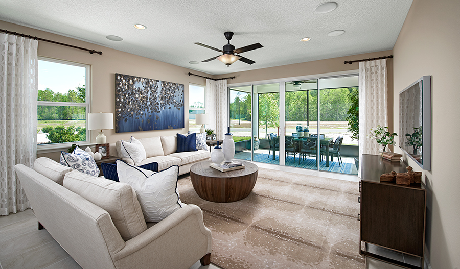 Family room of the Sapphire plan in JAX