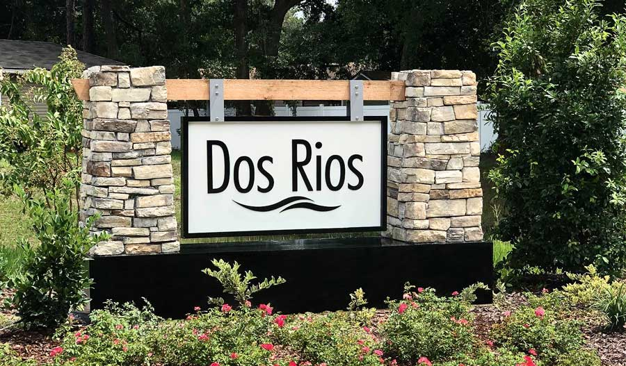 Monument of the Dos Rios in Jacksonville