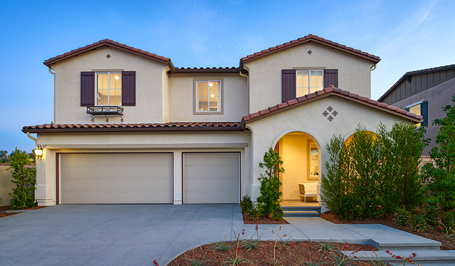 The Exterior of the Teagan floor plan model home at Vaquero at Audie Murphy Masterplan