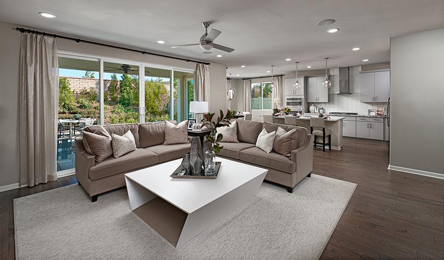 The Teagan Floor Plan Great Room Model Home at Vaquero Audie Murphy