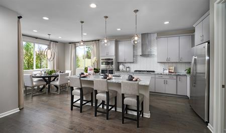 The Teagan model home Kitchen at Vaquero at Audie Murphy Masterplan