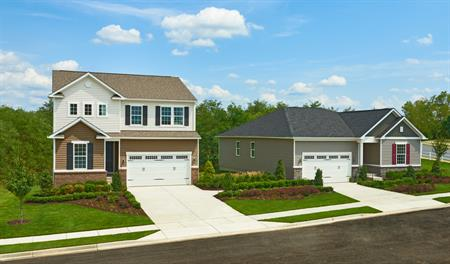 Streetscape in Hager's Crossing in MD