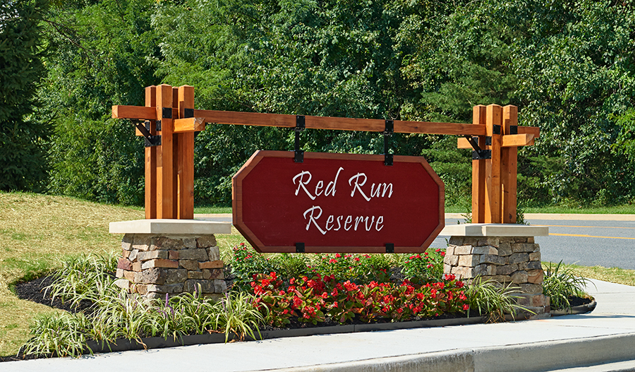 Monument in Red Run Reserve
