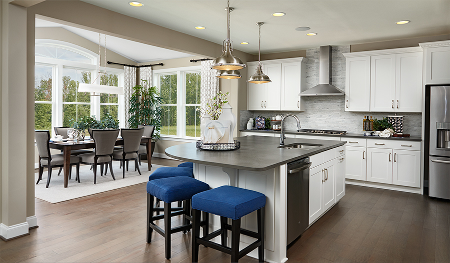 Kitchen/nook of the Hemingway plan in Baltimore