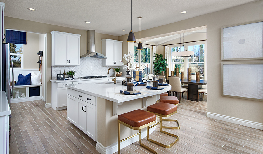 Kitchen and nook of the Andrea plan in NCA