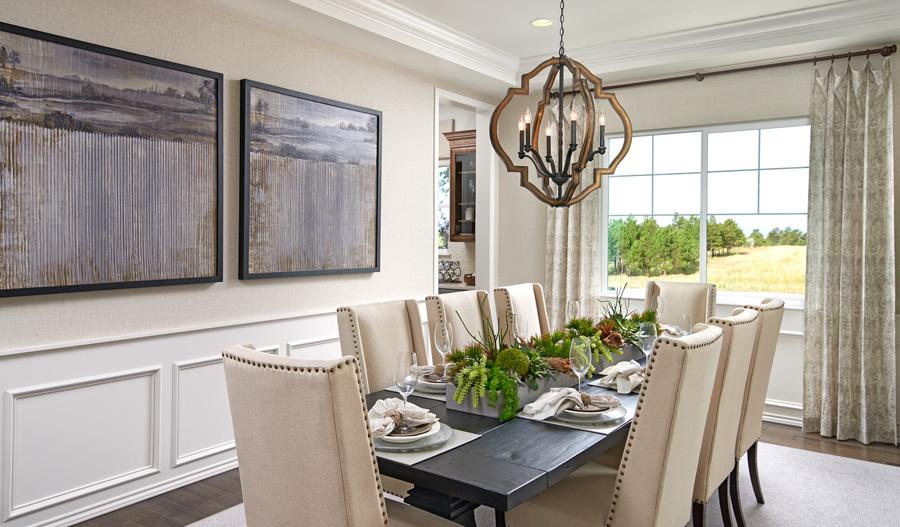 Dining room of the Holbrook plan in Denver