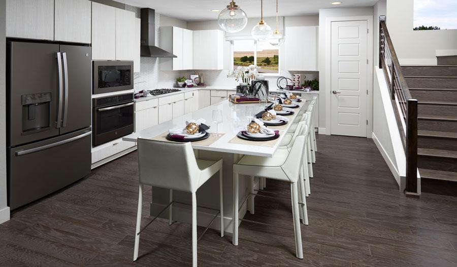 Kitchen of the Devoe plan in Denver