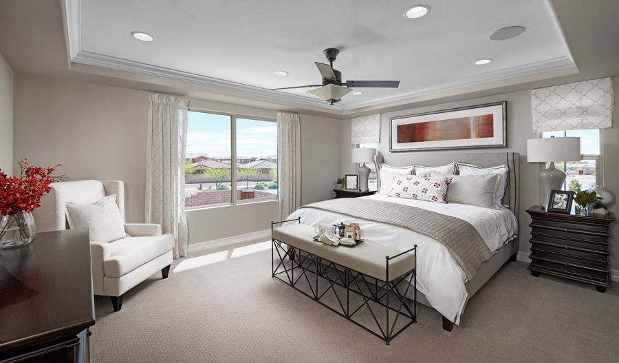 Owner's bedroom of the Dillon II plan in Tucson