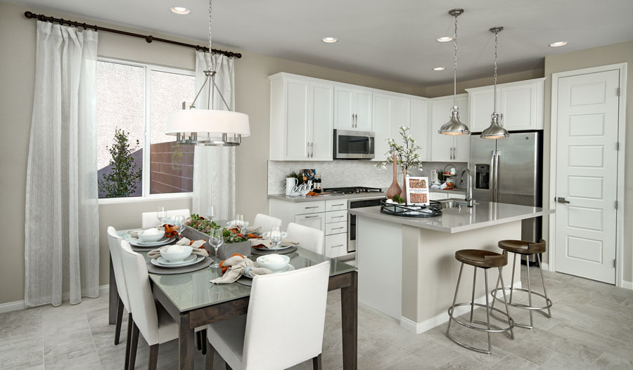 Kitchen and nook of the Elizabeth plan in LV