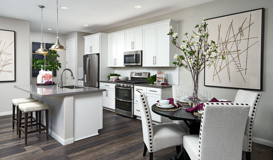 Kitchen and nook of the Boston plan in LV