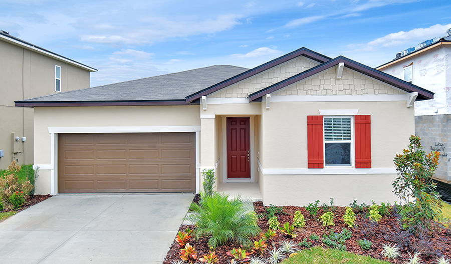 Exterior of the Amethyst listing 744 Meadow Pointe Dr, Orl