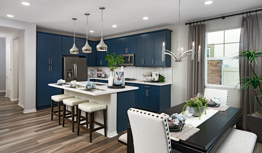 Kitchen nook of the Belleview plan in Inland Empire